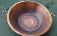 銅鍋三工位復底釬焊后樣品